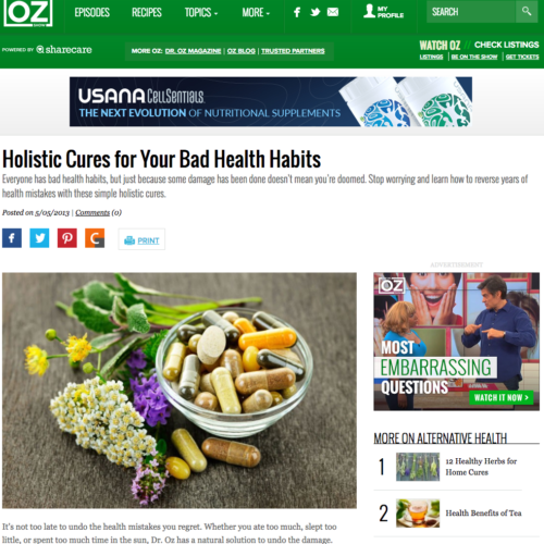 Holistic Cures for Your Bad Health Habits
